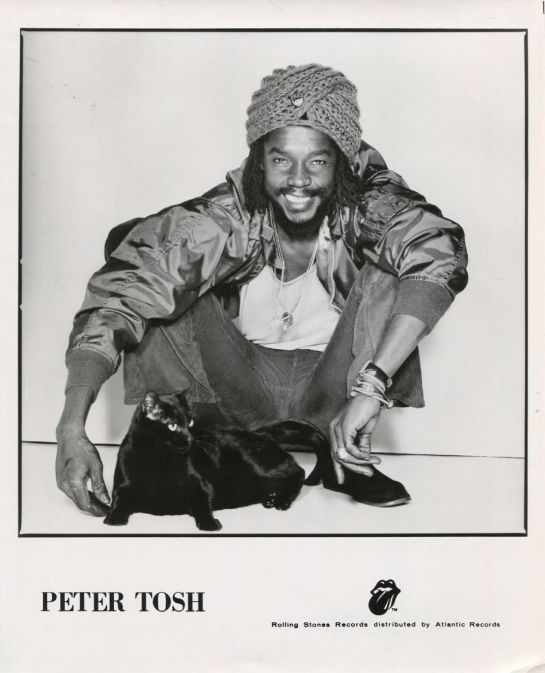 peter tosh - press photo - rolling stones records
