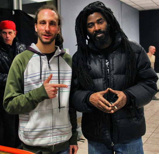 David (Dub Akom) & Omar Perry - Photo Fred reGGaeLover 2014