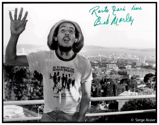 1980-06-26 Bob Marley -Hotel in Toulon, France - Photo copyright Serge Assier