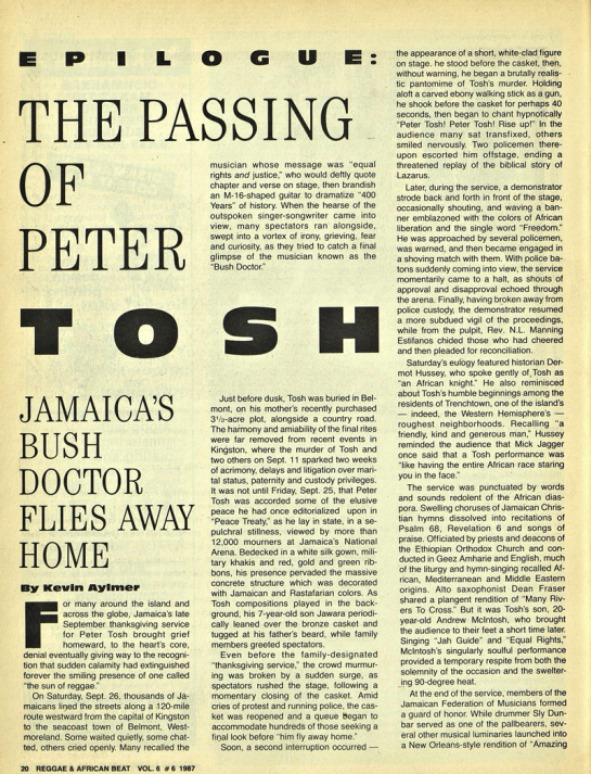 Aylmer, Kevin. The Reggae & African Beat (Archive- 1983-1988)6.6 (Dec 1, 1987)- 20-22, 30.tosh1