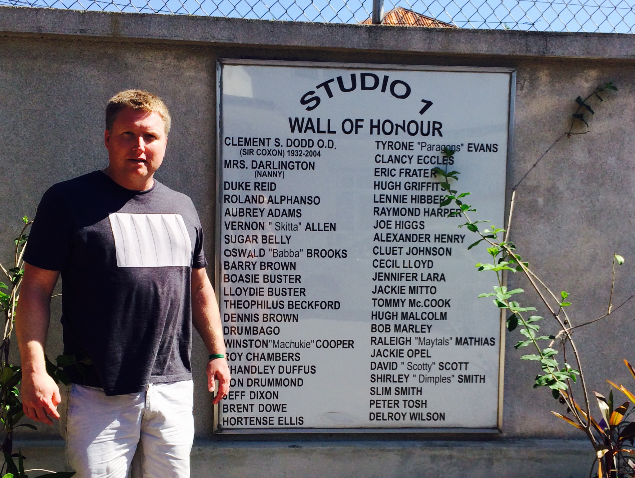 Raver next to the Studio One Hall of Honour